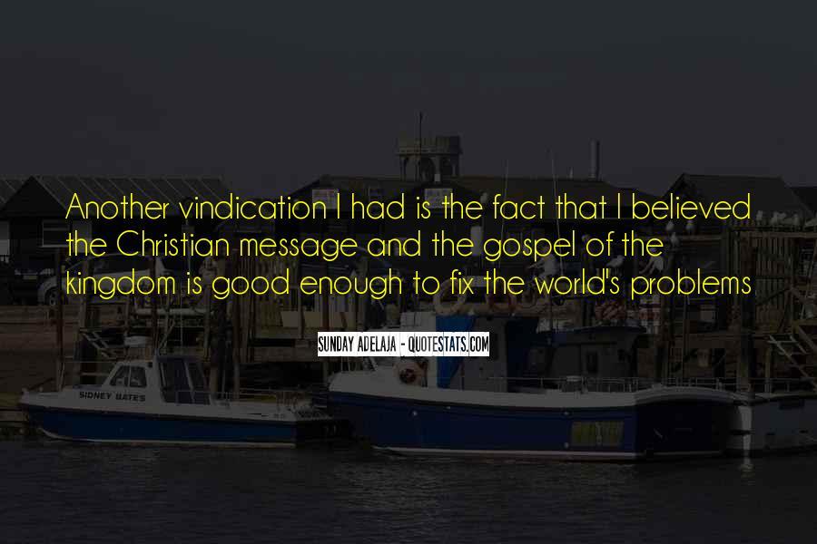 Good Vindication Quotes #1159742