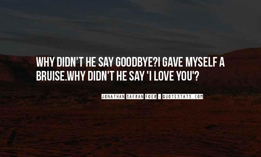 Goodbye For Now Love Quotes #251018