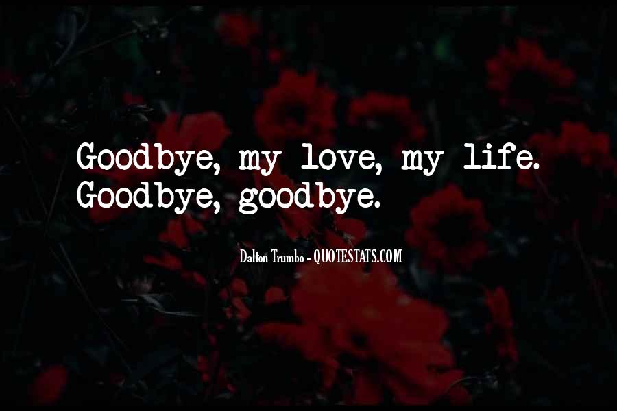 Goodbye For Now Love Quotes #280240