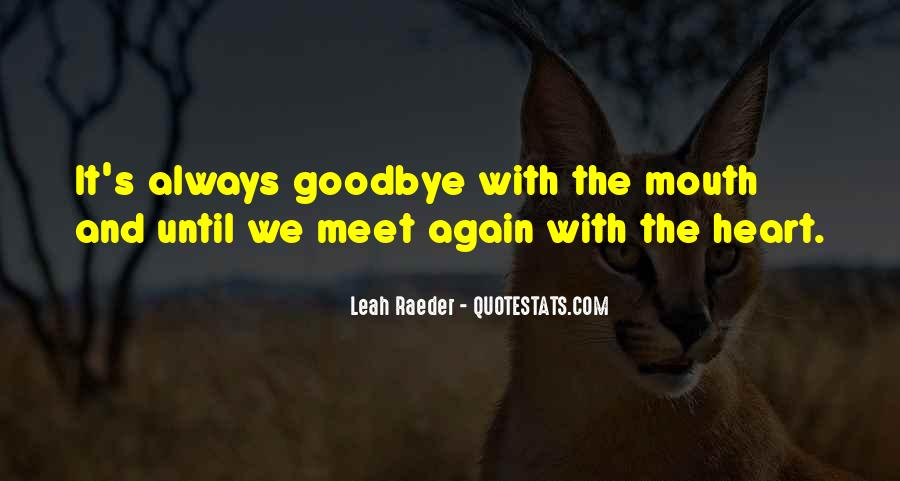 Goodbye For Now Until We Meet Again Quotes #1607440
