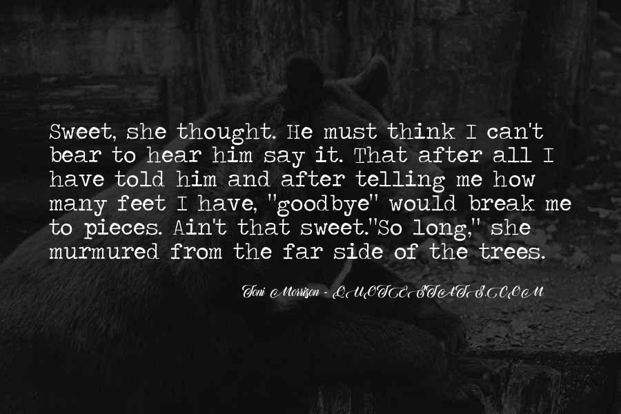Goodbye To Him Quotes #178291
