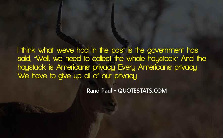 Government And Privacy Quotes #843228