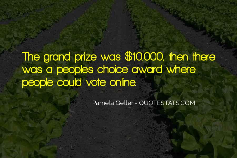 Grand Prize Quotes #631982