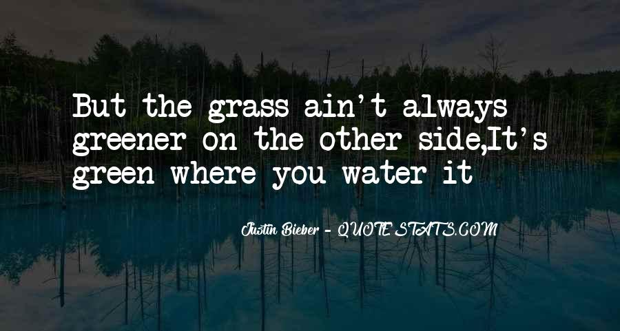 Grass Ain't Greener On The Other Side Quotes #508897