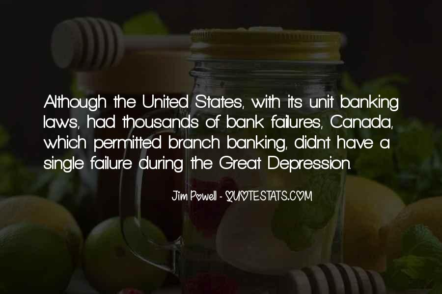 Great Depression Bank Quotes #1216793