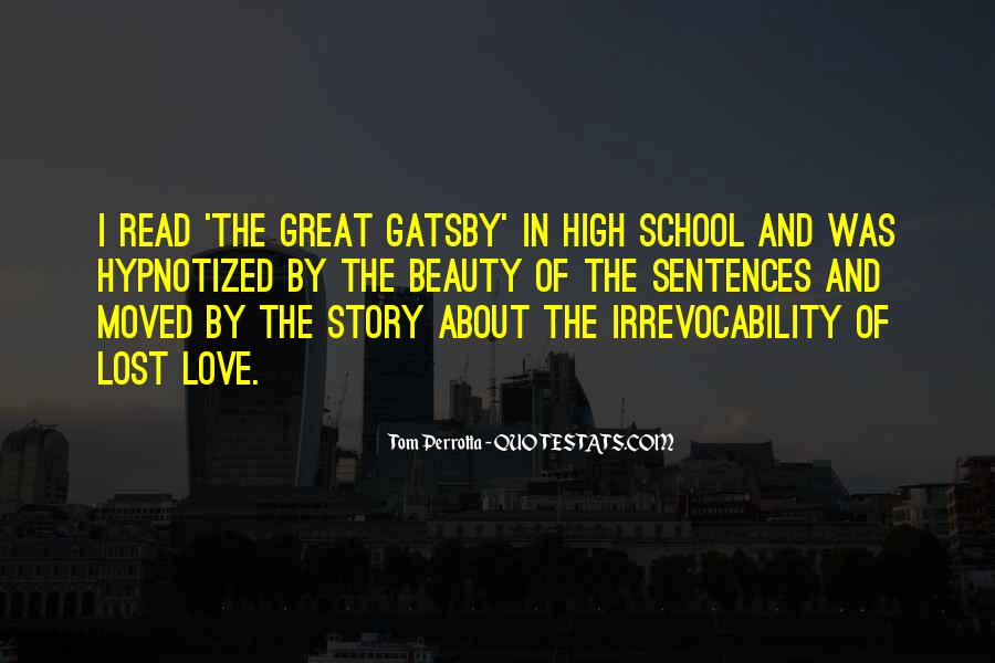 Great Gatsby Novel Quotes #1599687