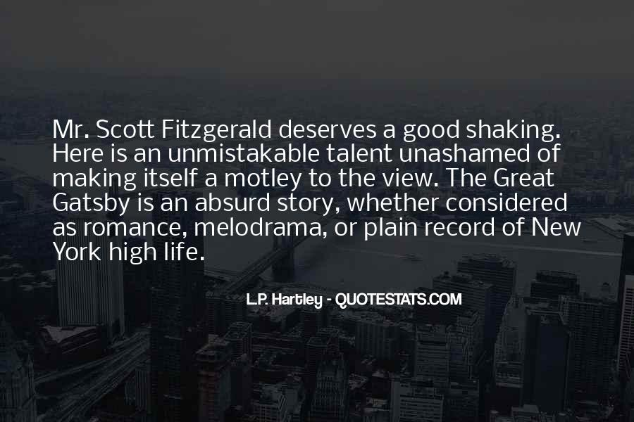 Great Gatsby Novel Quotes #1611154