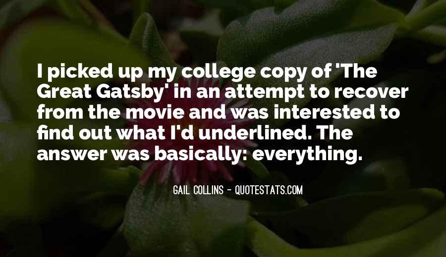 Great Gatsby Novel Quotes #849734