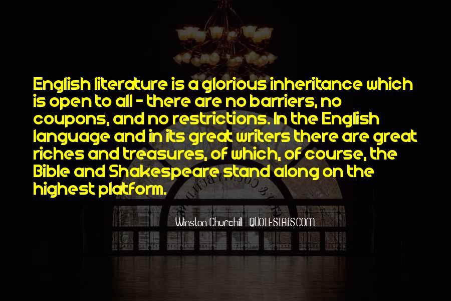 Great Inheritance Quotes #1586355