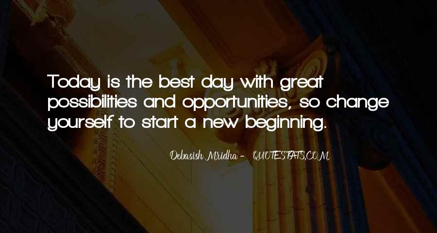 Great New Beginning Quotes #1534982