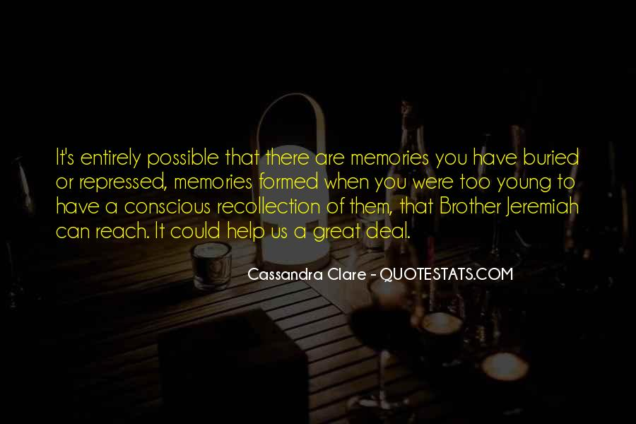 Great Recollection Quotes #565913
