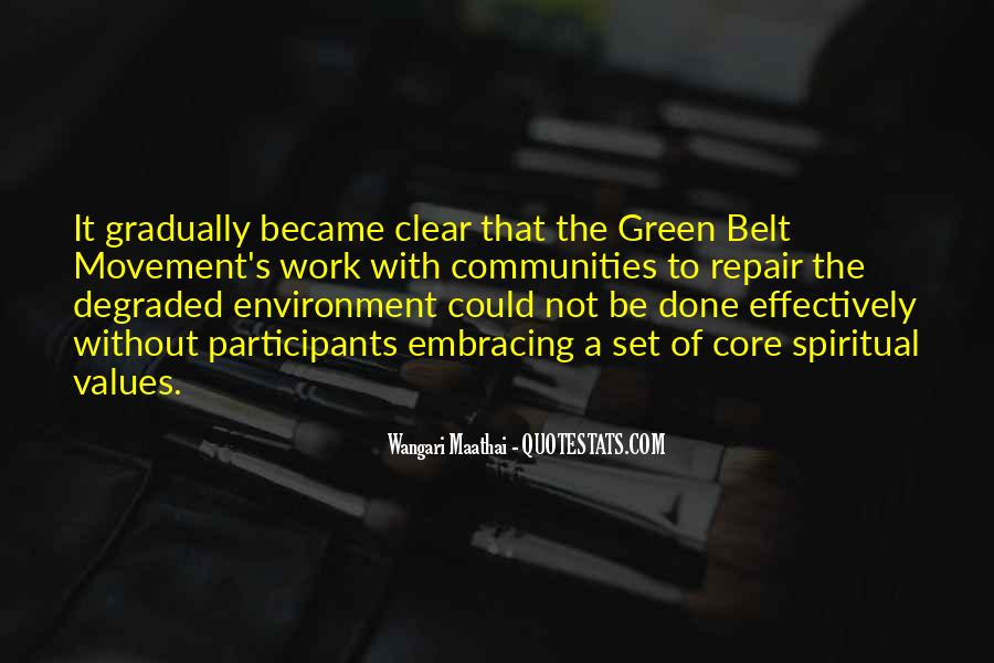 Green Belt Movement Quotes #411669