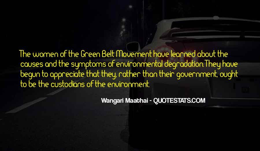 Green Belt Movement Quotes #681625
