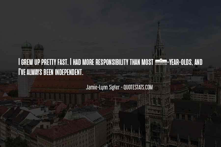 Grew Up Too Fast Quotes #65233