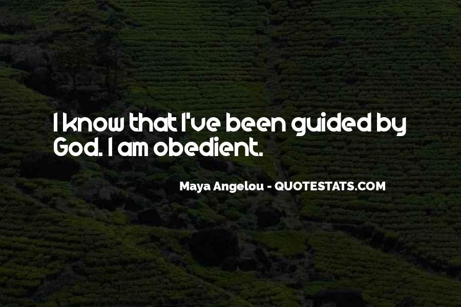Guided By God Quotes #71049