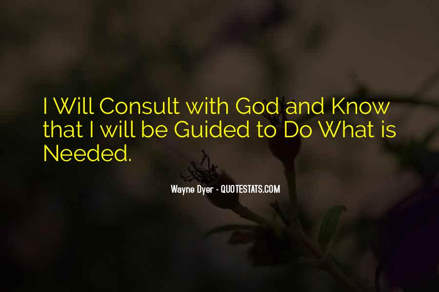 Guided By God Quotes #89976