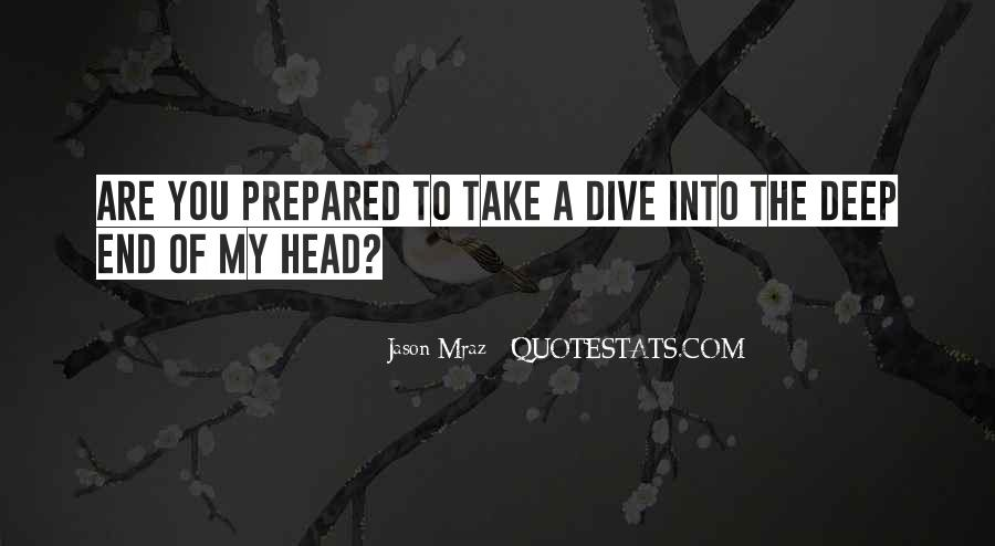 Quotes About The Deep End #844107