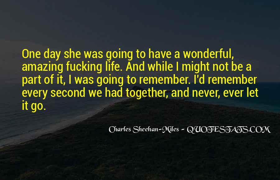 Had Wonderful Day Quotes #1093887