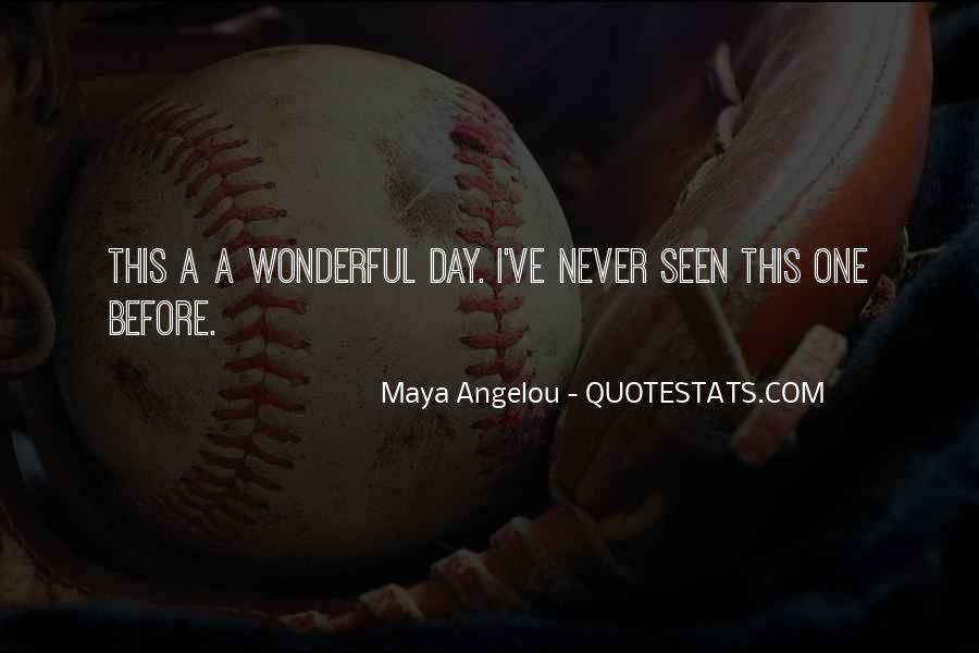 Had Wonderful Day Quotes #12068