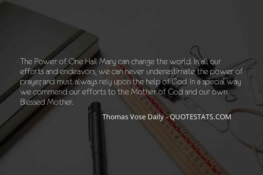 Hail Mary Prayer Quotes #1511707