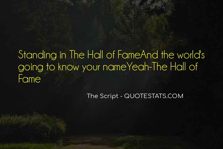 Hall Of Fame Lyrics Quotes #348109