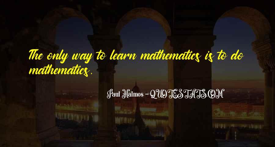 Halmos Quotes #1109451