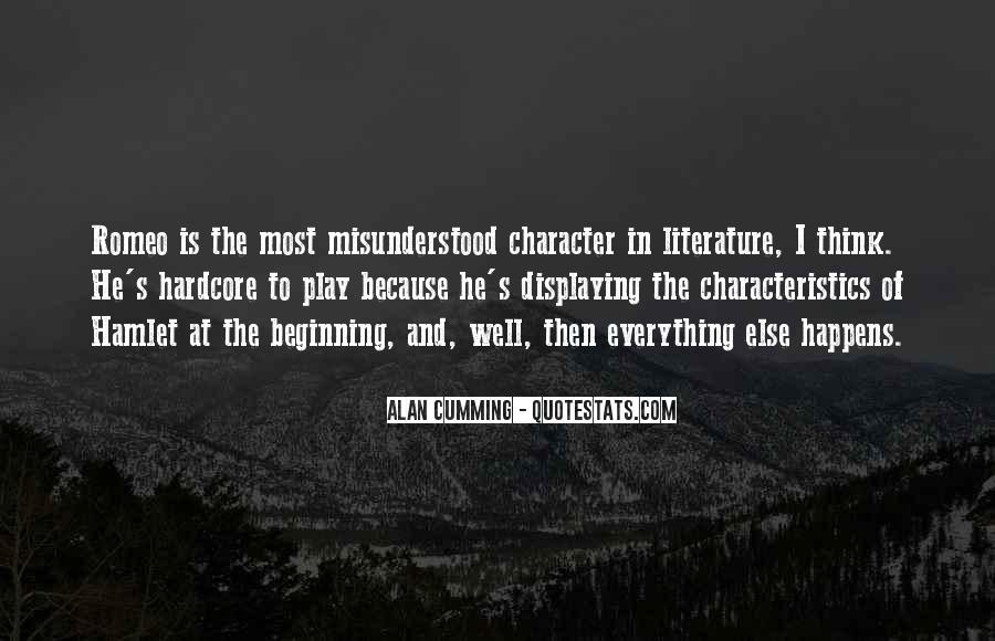 Hamlet Characteristics Quotes #903264