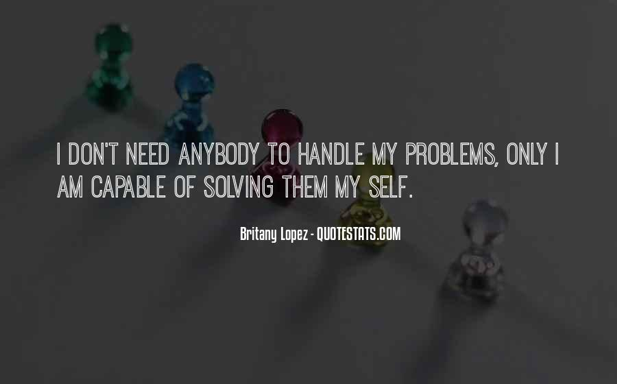Handle Problems Quotes #1117105