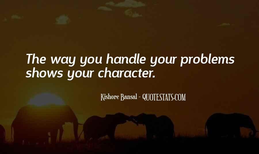 Handle Problems Quotes #1145501