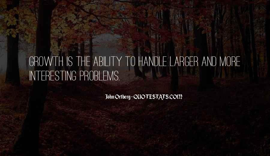 Handle Problems Quotes #138635