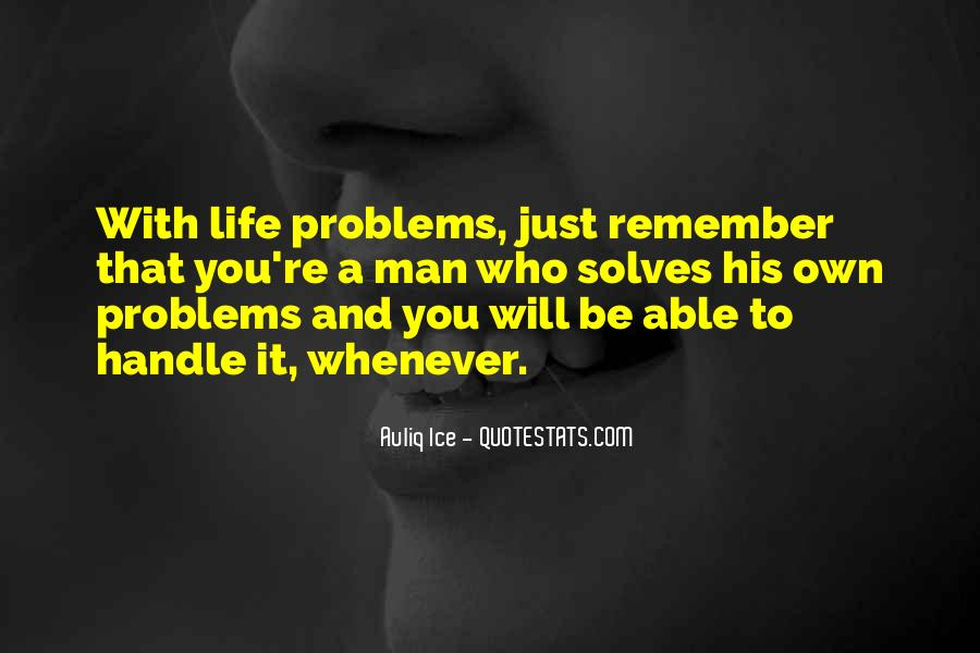 Handle Problems Quotes #430454