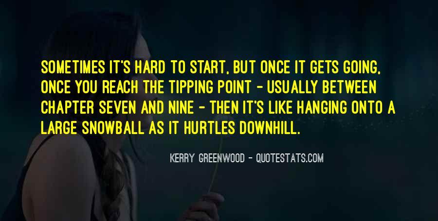 Hanging In Between Quotes #23457