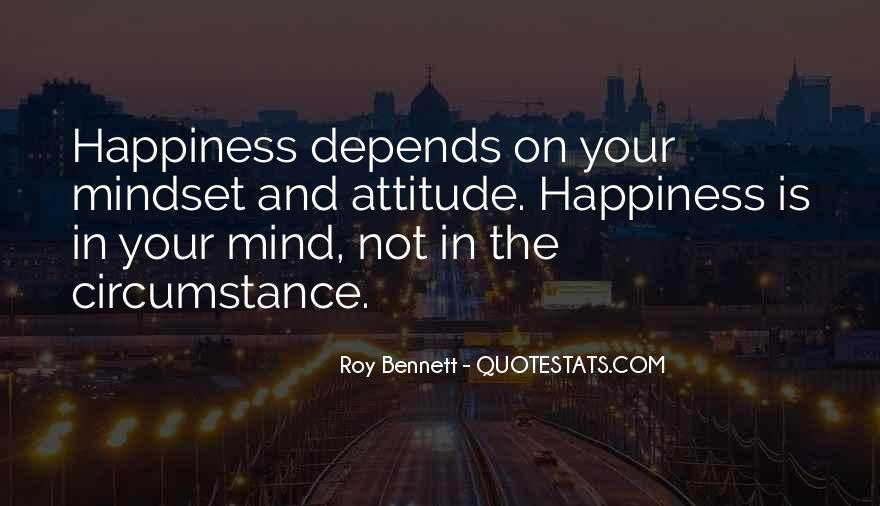 Happiness Depends On Ourselves Quotes #383335