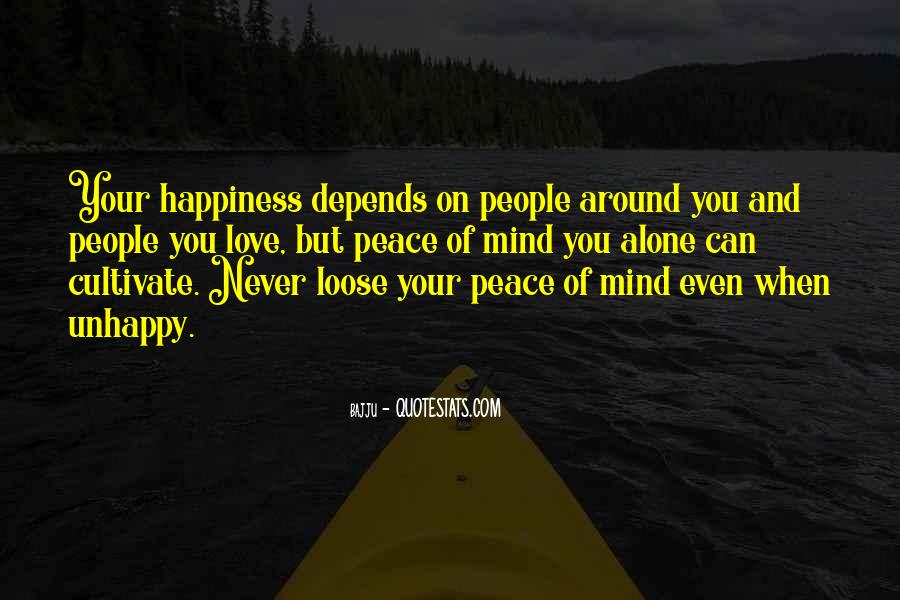 Happiness Depends On Ourselves Quotes #39328