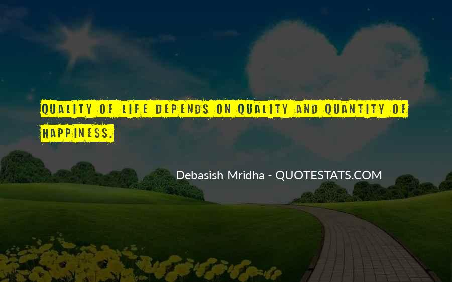 Happiness Depends On Ourselves Quotes #96600