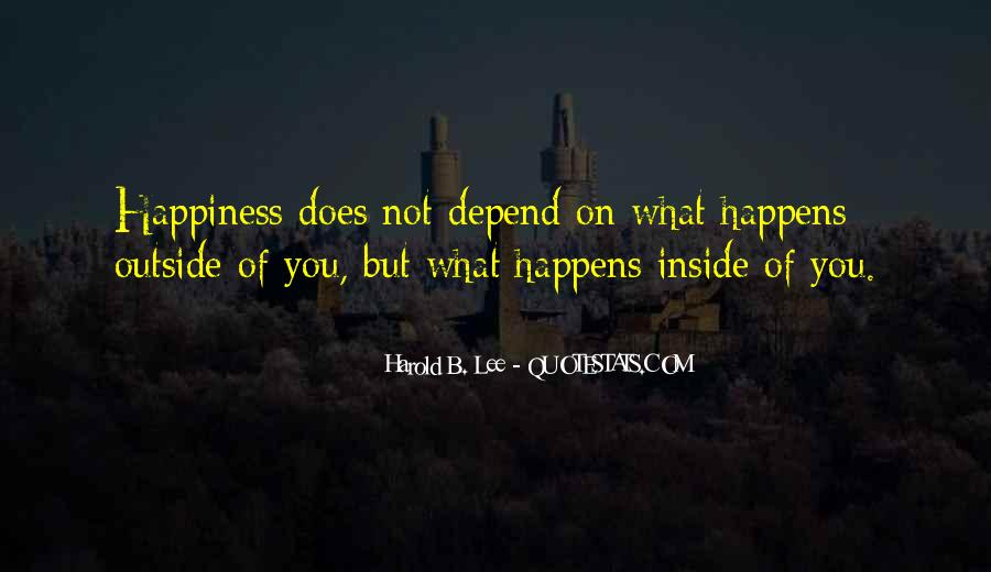 Happiness Inside You Quotes #605063