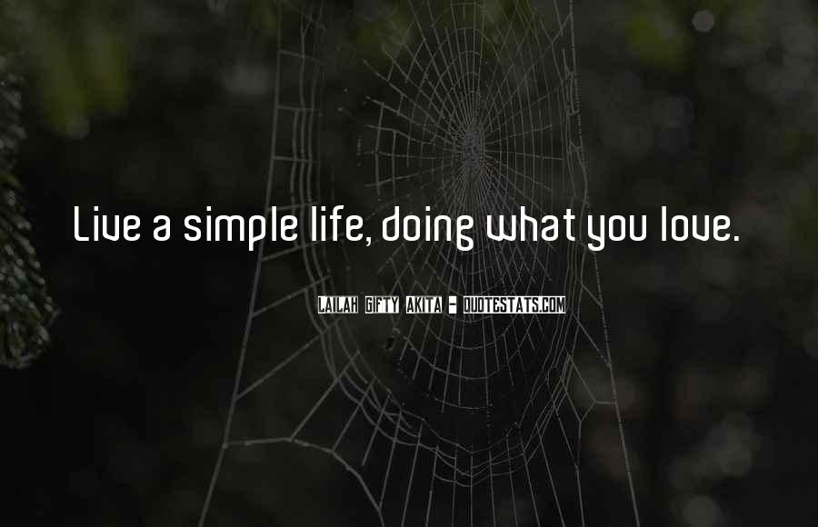 Happiness Simple Life Quotes #1131638