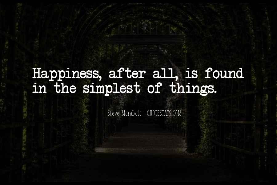 Happiness Simple Life Quotes #257806