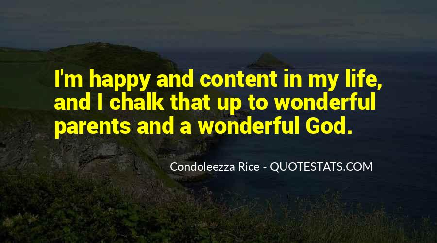 Happy And Content With Life Quotes #1348829