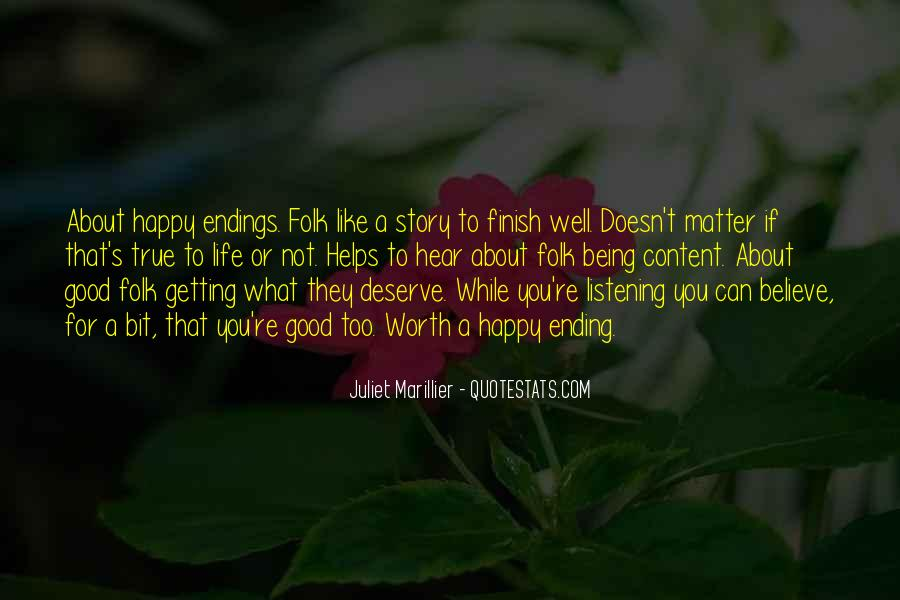 Happy And Content With Life Quotes #148317