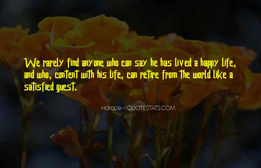 Happy And Content With Life Quotes #297199