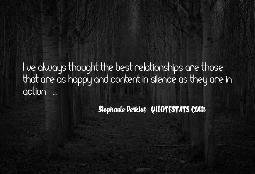 Happy And Content With Life Quotes #357142