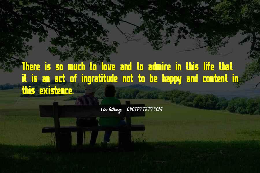 Happy And Content With Life Quotes #374449