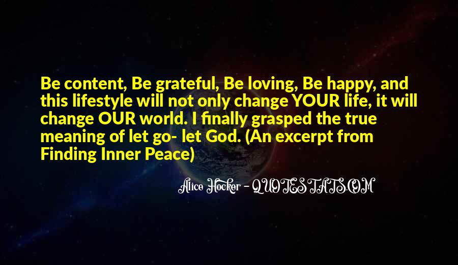 Happy And Content With Life Quotes #783687