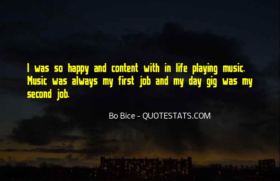 Happy And Content With Life Quotes #860701