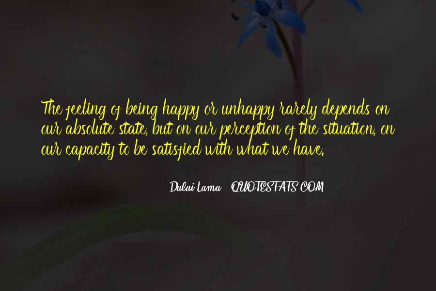 Happy But Unhappy Quotes #127144