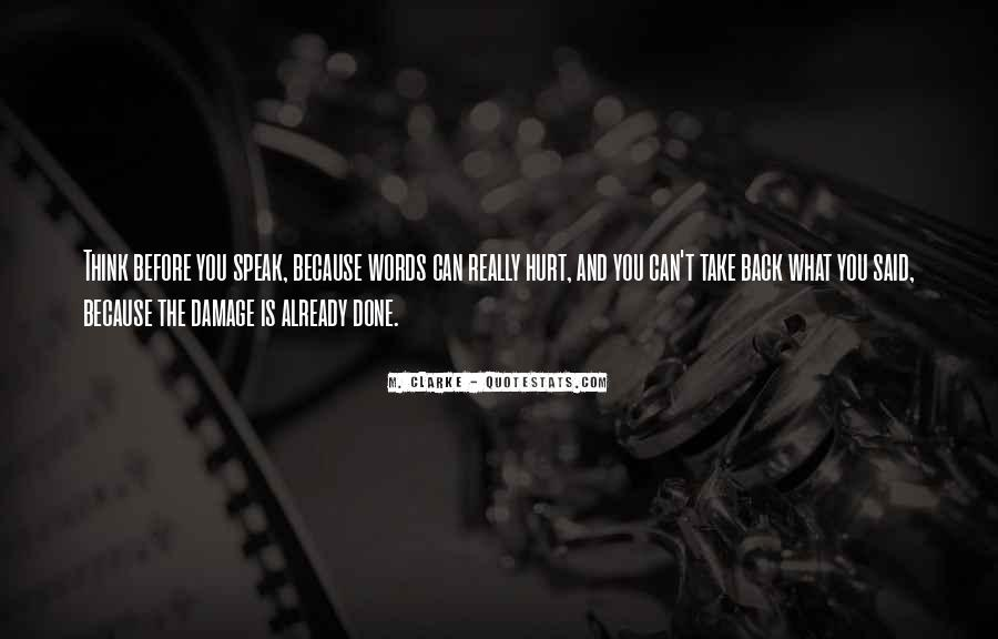Quotes About The Damage Is Done #1831066