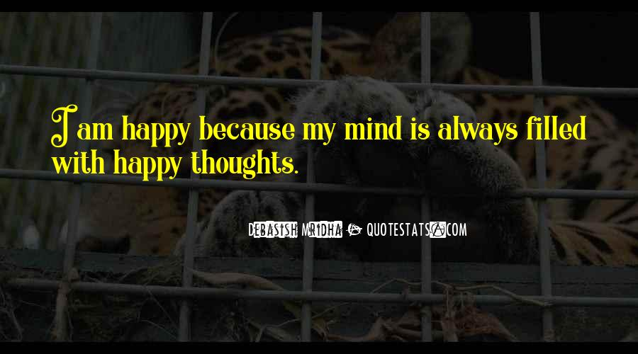 Happy Thoughts Love Quotes #1201353