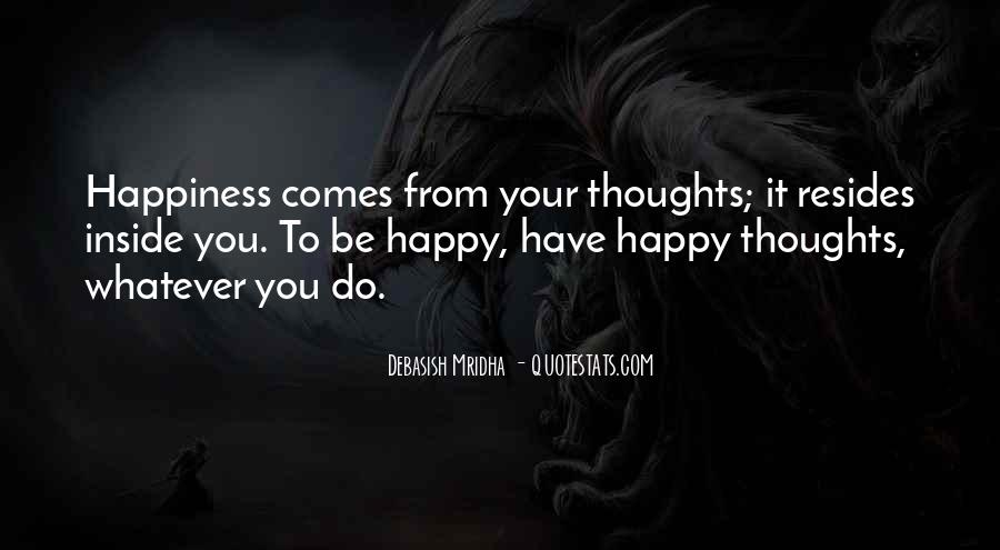 Happy Thoughts Love Quotes #128526