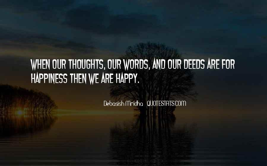 Happy Thoughts Love Quotes #312756